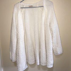 White open cardigan